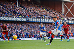 28.09.2018 Rangers v Aberdeen: James Tavernier strokes home his second penalty kick of the match to put Rangers 4-0 up