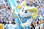 17 September 2016: UNC mascot Rameses leads the team onto the field. The University of North Carolina Tar Heels hosted the James Madison University Dukes at Kenan Memorial Stadium in Chapel Hill, North Carolina in a 2016 NCAA Division I College Football game.