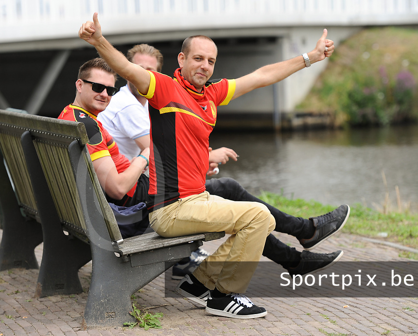 20170720 - BREDA , NETHERLANDS : illustration of fans pictured during the female soccer game between Norway and Belgium  , the second game in group A at the Women's Euro 2017 , European Championship in The Netherlands 2017 , Thursday 20 th June 2017 at Stadion Rat Verlegh in Breda , The Netherlands PHOTO SPORTPIX.BE   DIRK VUYLSTEKE