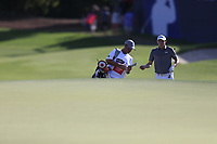 Matthew Fitzpatrick (ENG) on the 18th during the 1st round of the DP World Tour Championship, Jumeirah Golf Estates, Dubai, United Arab Emirates. 15/11/2018<br /> Picture: Golffile | Fran Caffrey<br /> <br /> <br /> All photo usage must carry mandatory copyright credit (&copy; Golffile | Fran Caffrey)