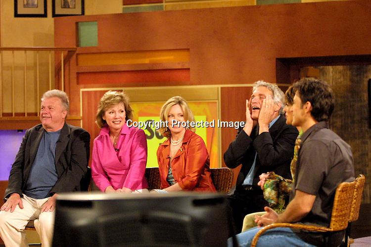 "©2002 KATHY HUTCHINS/ HUTCHINS PHOTO."" SOAP TALK TAPING"".LOS ANGELES CA. 6/23/02.DARK SHAWDOWS CAST W/ LISA RINNA, TY TREADWAY..JOHN KARLAN.KATHRYN LEIGH SCOTT.LARA PARKER.DAVID SELBY.LISA RINNA, TY TREADWAY"