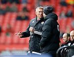 Nigel Adkins manager of Sheffield Utd talks to the fourth official - English League One - Sheffield Utd vs Coventry City - Bramall Lane Stadium - Sheffield - England - 13th December 2015 - Pic Simon Bellis/Sportimage-