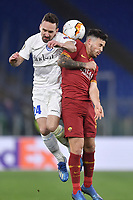 Carles Perez of Roma and Sven Kums of Gent<br /> Roma 20-02-2020 Stadio Olimpico <br /> Football Europa League 2019/2020 Round of 32 first leg <br /> AS Roma -  Kaa Gent<br /> Photo Andrea Staccioli / Insidefoto