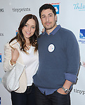 Jason Biggs and  Jennifer Mollen<br />  attends The Milk + Bookies Story Time Celebration held at The Skirball Center in Los Angeles, California on April 27,2014                                                                               &copy; 2014 Hollywood Press Agency
