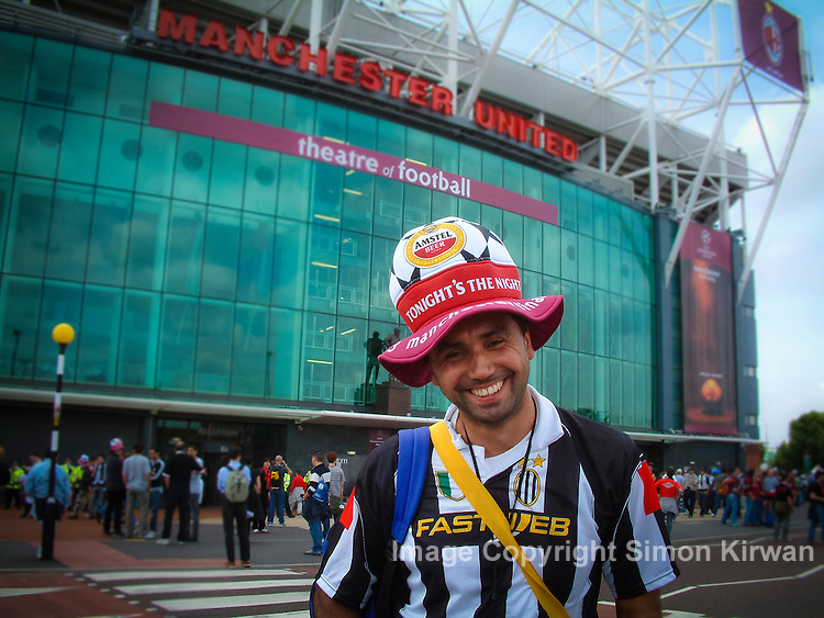 Juventus fan, 2003 UEFA Champions League Final, Old Trafford, Manchester United FC