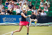 June 14th 2017, Nottingham, England; WTA Aegon Nottingham Open Tennis Tournament day 5;  Forehand volley from Julia Boserup of USA in action against Dona Vekic of Croatia