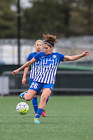 Allston, MA - Sunday, May 1, 2016: Boston Breakers midfielder Angela Salem (26) in a match against the Portland Thorns FC at Harvard University.