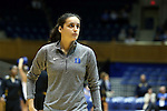 05 November 2015: Duke's Angela Salvadores (ESP). The Duke University Blue Devils hosted the Pfeiffer University Falcons at Cameron Indoor Stadium in Durham, North Carolina in a 2015-16 NCAA Women's Basketball Exhibition game. Duke won the game 113-36.