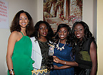 Marcia Brown - Maureen Martin - Delaina Dixon - Briget Wilson - INAANTA Hair International Launch Party hosted by Diva Gals Daily on November 15, 2014 at El Cid, New York City, New York. It is a new high-end Remy Extension line. This party is to get a good look at luxury hair collection.  (Photo by Sue Coflin/Max Photos)