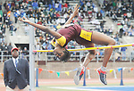The Gazette Bishop McNamara's Saniel Atkinson leaps over the high jump during the High School Girls' High Jump Championship on Thursday afternoon. Atkinson finished 5th with a height of 1.73 meters.