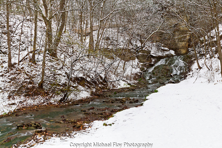 A Panoramic view of Dunning Springs in winter.