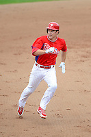 Philadelphia Phillies second baseman Chase Utley #26 runs the bases during a Spring Training game against the Boston Red Sox at Bright House Field on March 24, 2013 in Clearwater, Florida.  Boston defeated Philadelphia 7-6.  (Mike Janes/Four Seam Images)