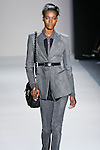 Sigail Currie walks the runway in a Nicole Miller Fall 2011 outfit, during Mercedes-Benz Fashion Week.