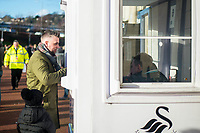 Man buying a program <br /> Re: Behind the Scenes Photographs at the Liberty Stadium ahead of and during the Premier League match between Swansea City and Bournemouth at the Liberty Stadium, Swansea, Wales, UK. Saturday 25 November 2017