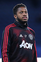Fred of Manchester United warms up ahead of kick-off during Chelsea vs Manchester United, Emirates FA Cup Football at Stamford Bridge on 18th February 2019