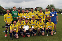 Notley winners of the Neil Horrocks memorial plate Onley Arms vs Notley, Braintree & North Essex Sunday League Cup Final Football at Rosemary Lane on 13th May 2018