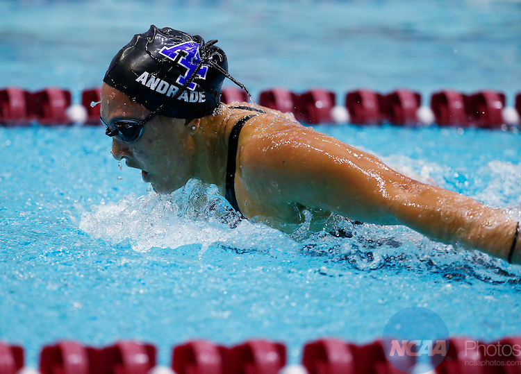 18 FEB 2017: The 2017 Mountain West Swimming and Diving Championship 100-yard Freestyle prelims held at Texas A&M Natatorium in College Station, TX. Jack Dempsey/NCAA Photos