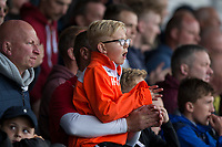 Newport fans during the Sky Bet League 2 match between Newport County and Notts County at Rodney Parade, Newport, Wales on 6 May 2017. Photo by Mark  Hawkins / PRiME Media Images.