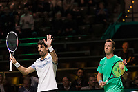 Rotterdam, The Netherlands, 16 Februari 2019, ABNAMRO World Tennis Tournament, Ahoy, Semis, Doubles, Jeremy Chardy (FRA) Henri Kontinen(FIN), <br /> Photo: www.tennisimages.com/Henk Koster