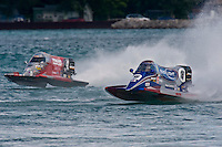 8-10 August 2008  Algonac, MI USA.Tim Seebold (#16) and Shaun Torrente race for the lead in the final..©F.Peirce Williams 2008