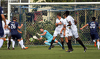 Team Wellington's Scott Basalaj makes a save during the 2018 OFC Champions League semifinal between Auckland City FC and Team Wellington at Kiwitea St in Auckland, New Zealand on Sunday, 29 April 2018. Photo: Dave Lintott / lintottphoto.co.nz