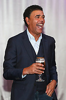 Chris Kamara attends the evening event of the Graham Wylie Foundation- Have A Heart- golf day with Lee Westwood and Ronan Keating at Close House Golf Club, Heddon on the wall, England on 10 September 2018. Photo by Thomas Gadd.