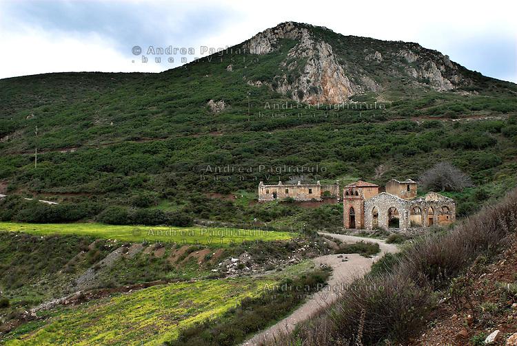 Italia, Sardegna, Sulcis.<br /> Miniera abbandonata di Acquaresi.<br /> Italy, Sardinia, Sulcis.<br /> Acquaresi's abandonment mine.