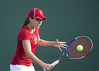 Nicole Gibbs of the 2010 Stanford women's Tennis Team.