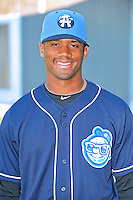 Russell Wilson #3 of the Asheville Tourists poses during media day at McCormick Field on April 4, 2011 in Asheville, North Carolina.  Photo by Tony Farlow / Four Seam Images..