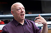 London Super Comic Con<br /> at Design Centre Islington, London, Great Britain <br /> 25th August 2017 <br /> <br /> Brian Michael Bendis <br /> comic writer <br /> Ultimate Spiderman <br /> Ultimate Fantastic Four <br /> Ultimate X Men <br /> etc <br /> New Avengers <br /> Invincible Iron Man <br /> Spider Man <br /> etc <br /> <br /> <br /> London Super Comic Con plays host to the latest comics, comic related memorabilia, superheroes and graphic novels fans have a chance to interact with their favourite creators, and  exhibitors showcasing items from comics to Cosplay, original art to toys.<br /> <br /> <br /> <br /> <br /> <br /> <br /> Photograph by Elliott Franks <br /> Image licensed to Elliott Franks Photography Services