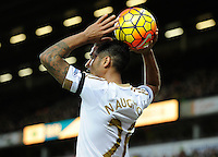 Kyle Naughton of Swansea City during the Barclays Premier League match between Norwich City and Swansea City played at Carrow Road, Norwich on November 7th 2015