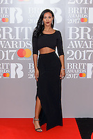 www.acepixs.com<br /> <br /> February 22 2017, London<br /> <br /> Maya Jama arriving at The BRIT Awards 2017 at The O2 Arena on February 22, 2017 in London, England.<br /> <br /> By Line: Famous/ACE Pictures<br /> <br /> <br /> ACE Pictures Inc<br /> Tel: 6467670430<br /> Email: info@acepixs.com<br /> www.acepixs.com