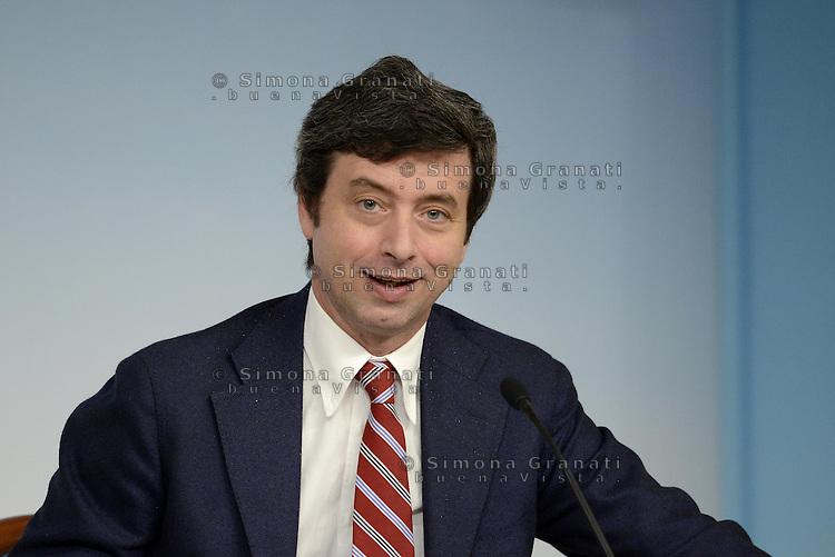 Roma, 28 Febbraio 2014<br /> Il ministro alla Giustizia Andrea Orlando al termine del  Consiglio dei Ministri.