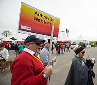 NWA Democrat-Gazette/BEN GOFF @NWABENGOFF<br /> Skip Van Tassell of Springdale waits take part in a survivor recognition Saturday, April 13, 2019, during the Northwest Arkansas Heart Walk starting from the Walmart Arkansas Music Pavilion in Rogers. This year is the 25th anniversary for the American Heart Association's annual walk with locations around the country. This year's Northwest Arkansas walk raised more than $1 million with donations still coming in as of Saturday morning, said to Lauren Wheeler with the American Heart Association Northwest Arkansas. Van Tassell, walking with the Aubrey's Warriors and Rouse's Bravehearts teams from Tyson Foods, was recognized as the top individual fundraiser this year.
