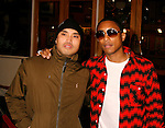 "UNIVERSAL CITY, CA. - March 12: Chad Hugo and Pharrell Williams (L-R) of N.E.R.D. arrive at the Los Angeles premiere of ""Fast & Furious"" at the Gibson Amphitheatre on March 12, 2009 in Universal City, California."