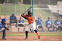 San Francisco Giants center fielder Heliot Ramos (31) at bat during an Instructional League game against the Kansas City Royals at the Giants Training Complex on October 17, 2017 in Scottsdale, Arizona. (Zachary Lucy/Four Seam Images)