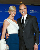 Karyn Kelly and Michael Kelly arrive for the 2015 White House Correspondents Association Annual Dinner at the Washington Hilton Hotel on Saturday, April 25, 2015.<br /> Credit: Ron Sachs / CNP