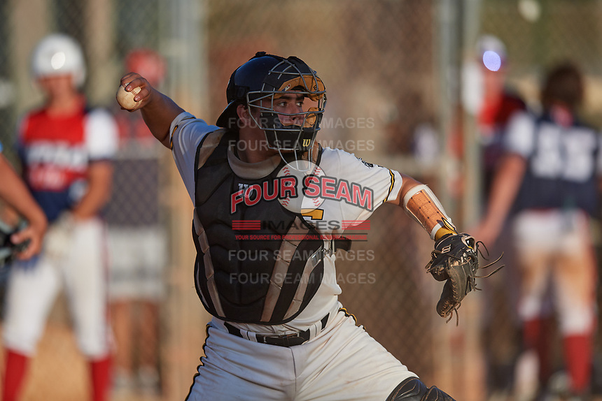 CJ Rodriguez during the WWBA World Championship at the Roger Dean Complex on October 20, 2018 in Jupiter, Florida.  CJ Rodriguez is a catcher from Newport Beach, California who attends Mater Dei High School and is committed to Vanderbilt.  (Mike Janes/Four Seam Images)