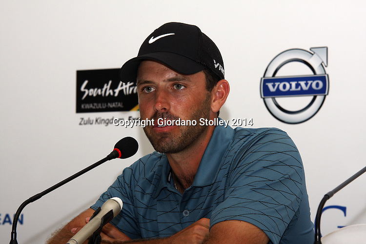DURBAN - 8 January 2013 - Top ranked South African golfer Charl Schwartzel speaks about his chances at the Volvo Golf Champions in Durban at a press conference. The tournament starts on January 9 and finishes on January 12. Picture: Allied Picture Press/APP