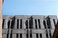 Boston:  Boston Post Office, Courthouse and Federal Building, 1930-1931.  Details of exterior design.  Art Deco style.  Photo '88.