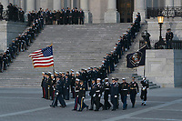 A military casket team prepare to carry the casket of former President George. H. W. Bush to the Capitol Rotunda in Washington, DC where he will lie state, December 3, 2018. <br /> CAP/MPI/RS<br /> &copy;RS/MPI/Capital Pictures