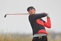 Harvey Byers (Walton Heath) on the 1st tee during Round 1 - Matchplay of the North of Ireland Championship at Royal Portrush Golf Club, Portrush, Co. Antrim on Wednesday 11th July 2018.<br /> Picture:  Thos Caffrey / Golffile