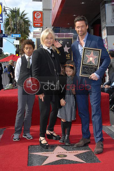 Hugh Jackman and family<br /> at the Hugh Jackman Star on the Hollywood Walk of Fame Ceremony, Hollywood, CA 12-13-12<br /> David Edwards/DailyCeleb.com 818-249-4998