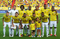 BARRANQUILLA - COLOMBIA -11-10-2016: BARRANQUILLA -COLOMBIA, 10-11-2016: Formación de Colombia contra Chile.Acción de juego entre Colombia y Chile durante el encuentro por las eliminatorias al mundial de Rusia 2018 disputado en el estadio Metropolitano Roberto Meléndez de Barranquilla./ Team Of Colombia agianst Chile.Action game between Colombia and Chile during the qualifying match for the 2018 World Championship in Russia Metropolitano Roberto Melendez stadium in Barranquilla. Photo: VizzorImage / Alfonso Cervantes / Cont
