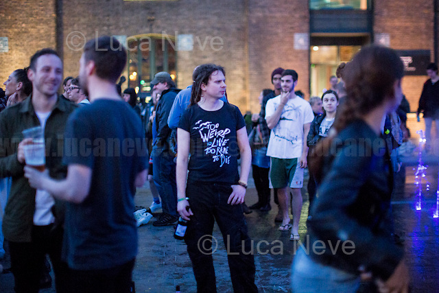 London, 04/05/2016. PUNKX is a festival organised in King&rsquo;s Cross to mark and celebrate the 40 Anniversary of Punk. PUNKX is part of &quot;Punk London - 40 years of subversive culture&quot; #punklondon. From the organisers website: &lt;&lt;[&hellip;] Throughout the 90s, clubbers flocked to the abandoned Victorian warehouses and brick railway arches at King's Cross for the legendary warehouse parties. PUNKX celebrates the experimental and creative scene that grew up at King's Cross at that time. Expect Punk-inspired performances, fire-breathing cars, live music and plenty of visual spectacles. [&hellip;] On the main stage - performances from Static Kill and the Mutoid Waste Company [&hellip;]&gt;&gt;.<br /> <br /> For more information please click here: https://www.kingscross.co.uk/event/punkx &amp; http://punk.london/ &amp; http://joerush.com/