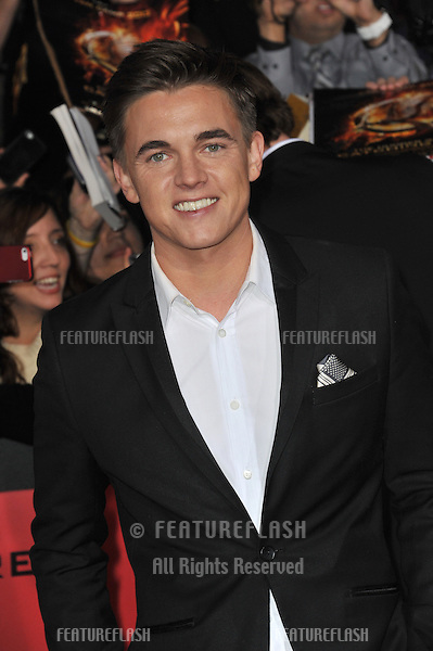 Jesse McCartney at the US premiere of &quot;The Hunger Games: Catching Fire&quot; at the Nokia Theatre LA Live.<br /> November 18, 2013  Los Angeles, CA<br /> Picture: Paul Smith / Featureflash