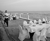 SRI LANKA, Asia, Colombo, waiter at Galle Face Hotel in Colombo