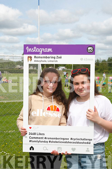 Abbeyfeale girls Katie O' Connor & Katie Healy attending the Rembering Zoë Funday.