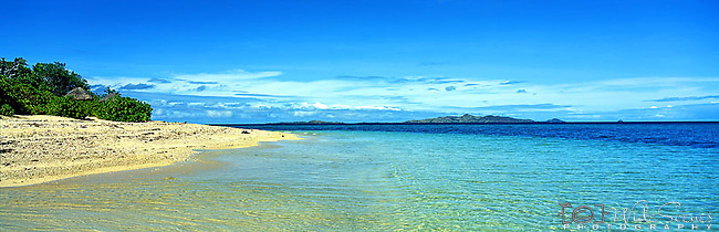 Malamala Island, Fiji Islands<br /> <br /> Image taken on large format panoramic 6cm x 17cm transparency. Available for licencing and printing. email us at contact@widescenes.com for pricing.