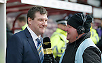 Hibs v St Johnstone...30.01.16   Utilita Scottish League Cup Semi-Final, Tynecastle..<br /> St Johnstone manager Tommy Wright is interviewed by the BBC's Brian McLaughlan<br /> Picture by Graeme Hart.<br /> Copyright Perthshire Picture Agency<br /> Tel: 01738 623350  Mobile: 07990 594431